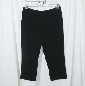 Worthington Black Cropped Trousers Pants Size 14